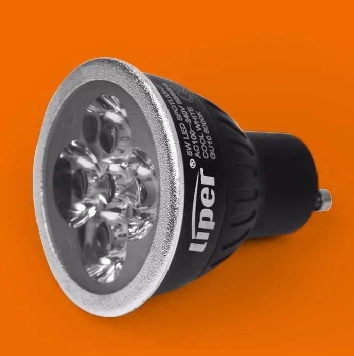 Gu10 Dicroica Lámpara Alta Liper Led Luminosidad 5w PkZiOXu