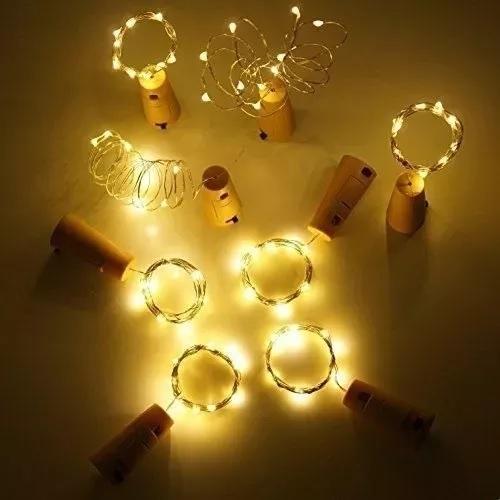 15 Luces Led Para Botellas Tapón Corcho C/ Luces Luciérnagas